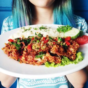 food_cornflakescrispychickenwithgarlicrice